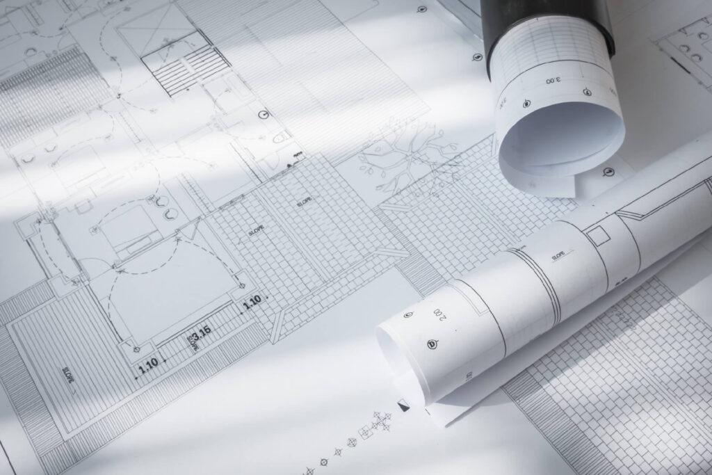 construction plans architectural project