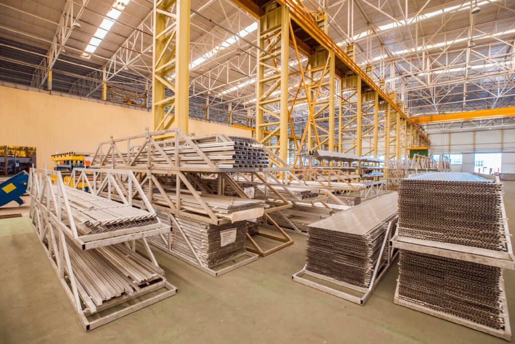 industry construction equipments inside storehouse factory